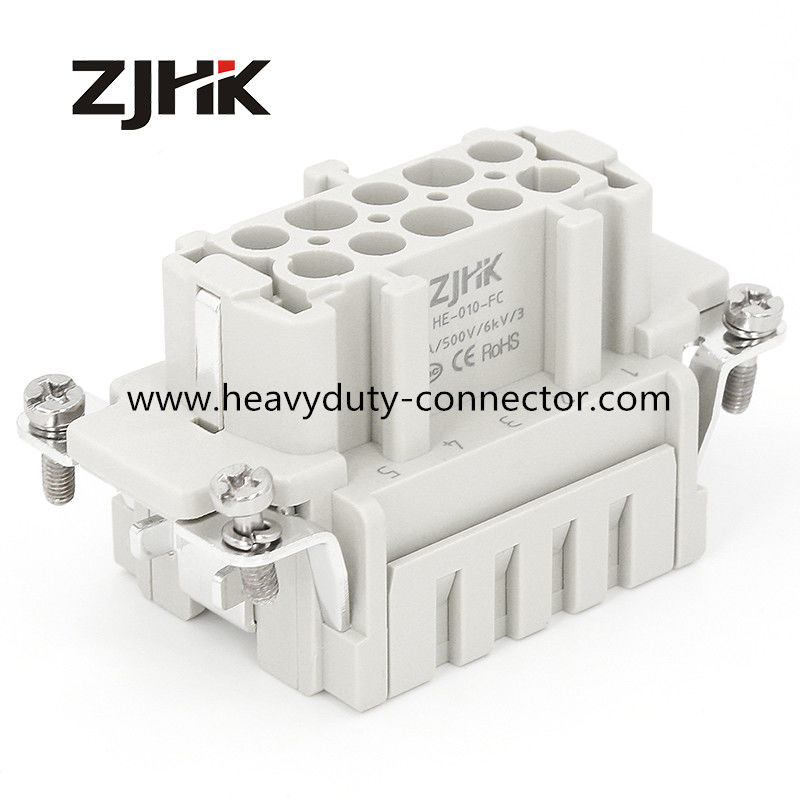 HE 10 Pin Crimp Terminal Heavy Duty Wire Connectors 500V Crimp Plug Socket Similer TE Connector